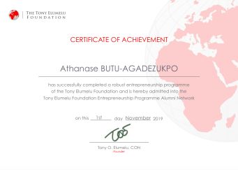 Athanase BUTU-AGADEZUKPO CEO E-BUSINESS AFRIQUE TEF ALUMNI 2019>